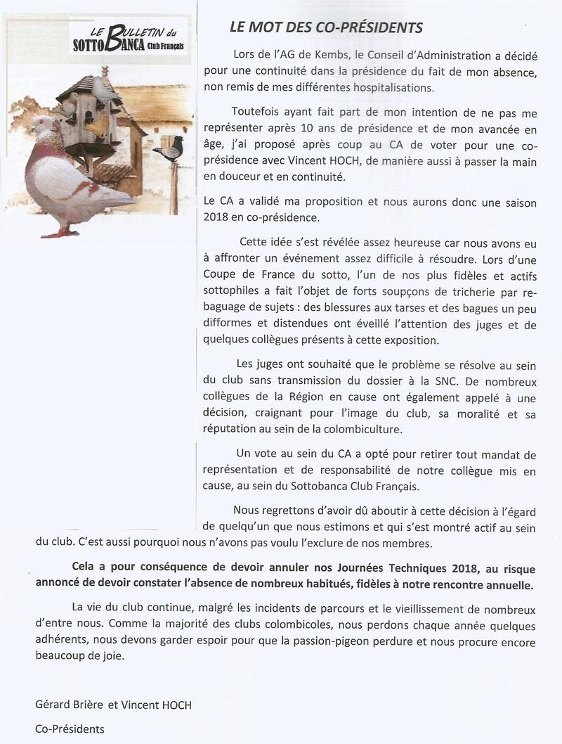 LE MOT DES CO-PRÉSIDENTS ( LE BULLETIN N° 126)  123