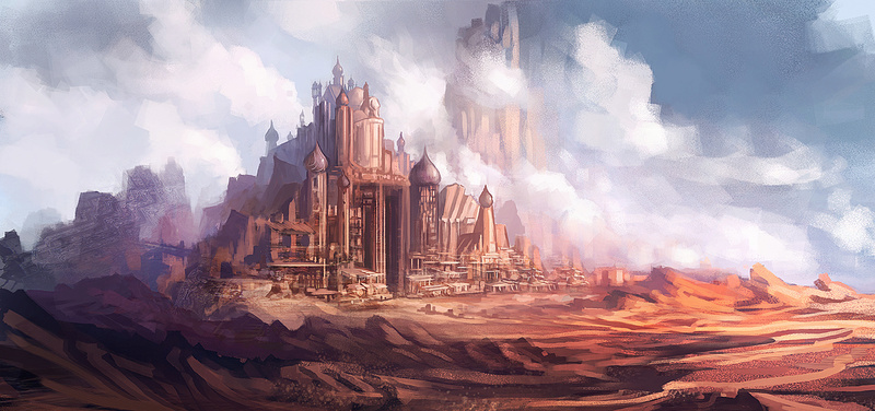 Firedell : Desert Castle by xpe