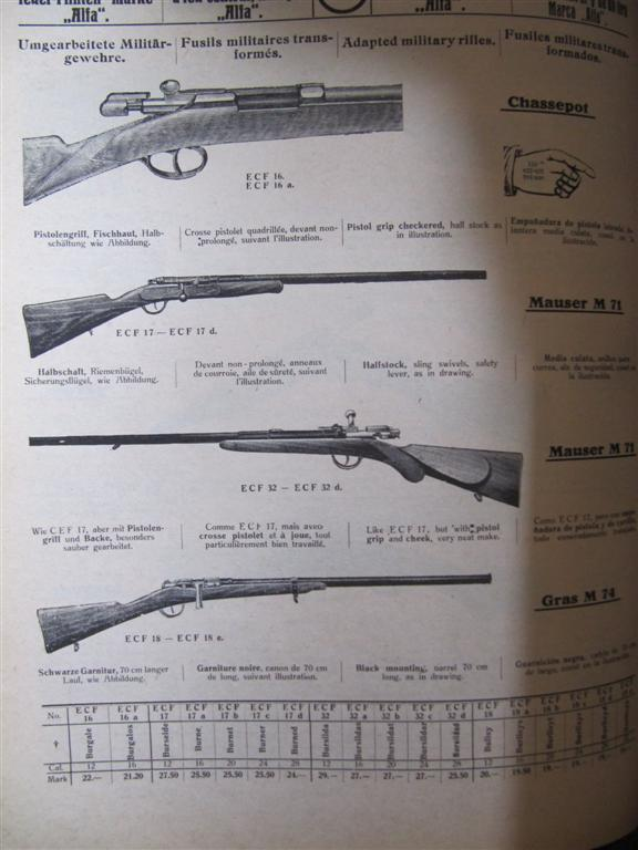 aide pour identification marquage chassepot modifié chasse Manufr12