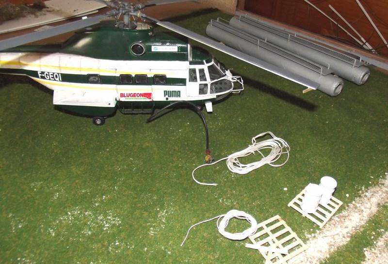 """SA 330 PUMA """"Hélicoptères BLUGEON"""" Revell 1/32 Dscf6037"""