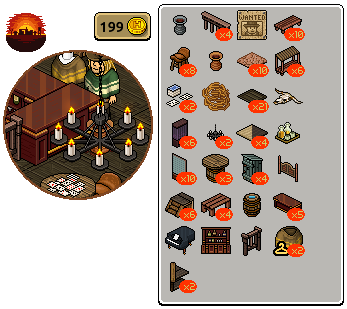 [ALL] Inserito Affare Stanza Bar Western in Catalogo su Habbo Scree762