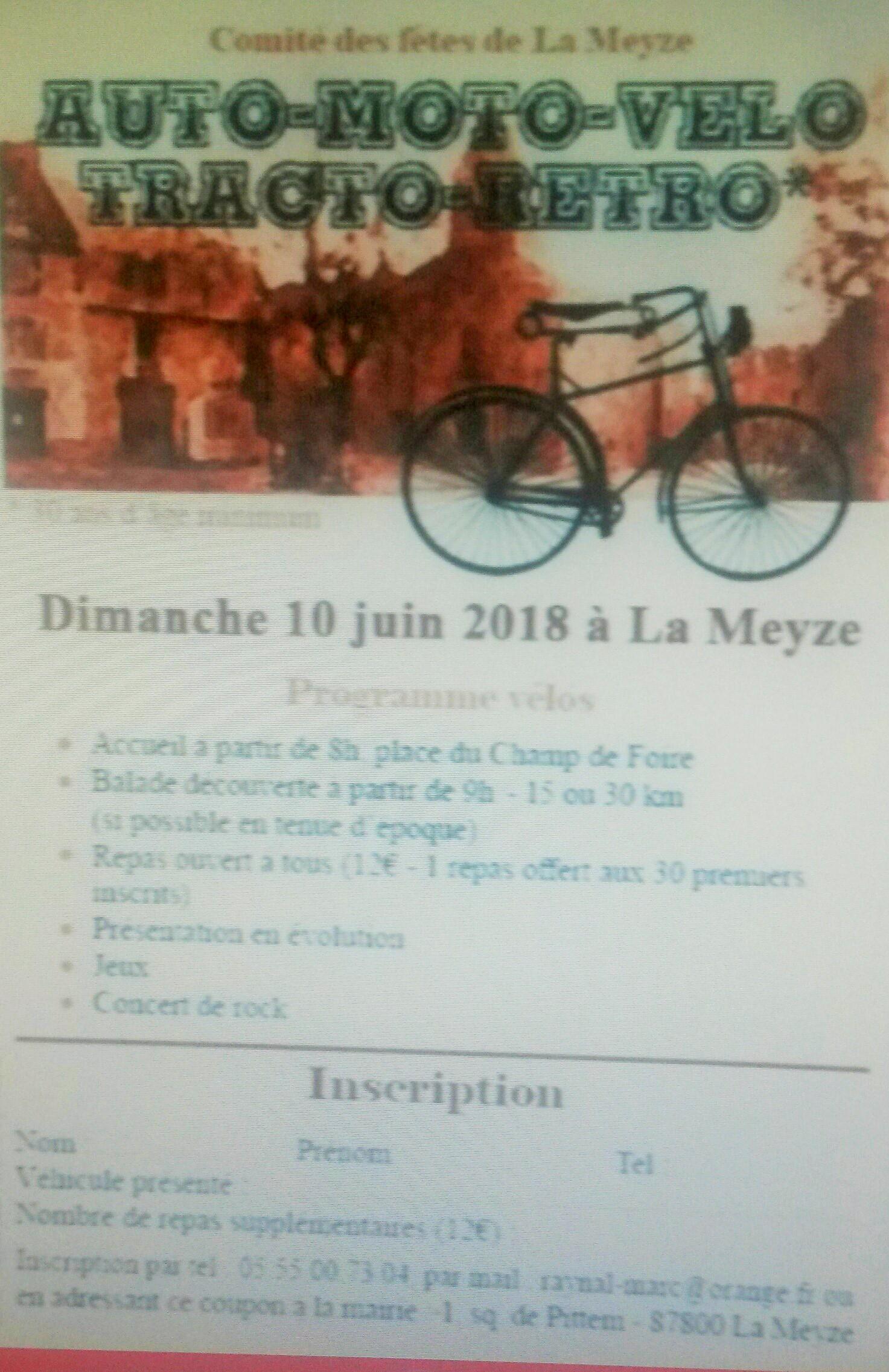 rando vélo vintage 87400 LA MEYZE  ( prés de limoges ) dimanche 10 juin 2018  07211