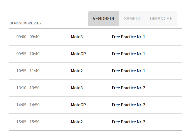 Grand Prix de Valence : 12 Novembre 23132010