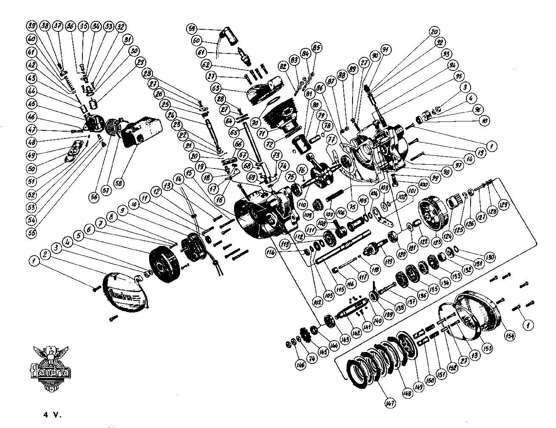 dépose complet moteur flandria 4,3cv à 4vitesse a main Flandr42