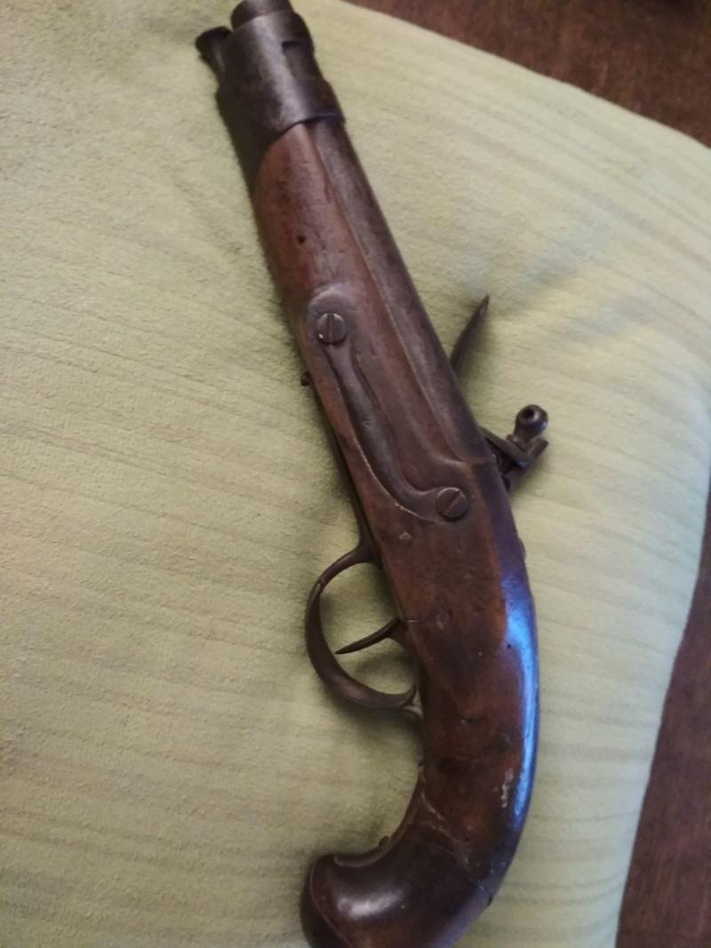 pistolet à silex fin XVIIIème style maréchaussée Img-2011