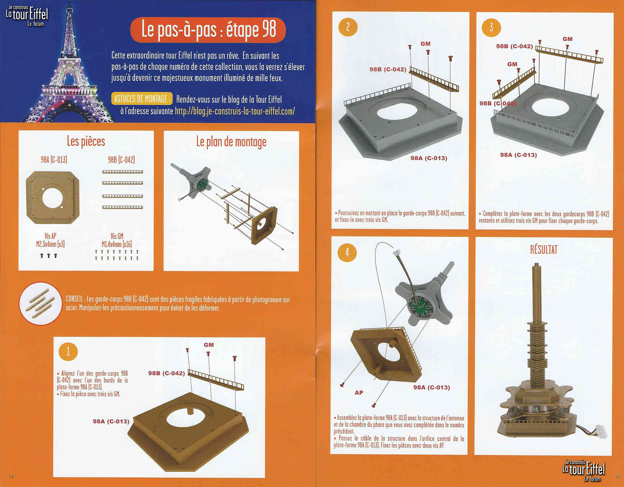 Numéro 98 - Je construis la Tour Eiffel - La tour Cayan 098p10
