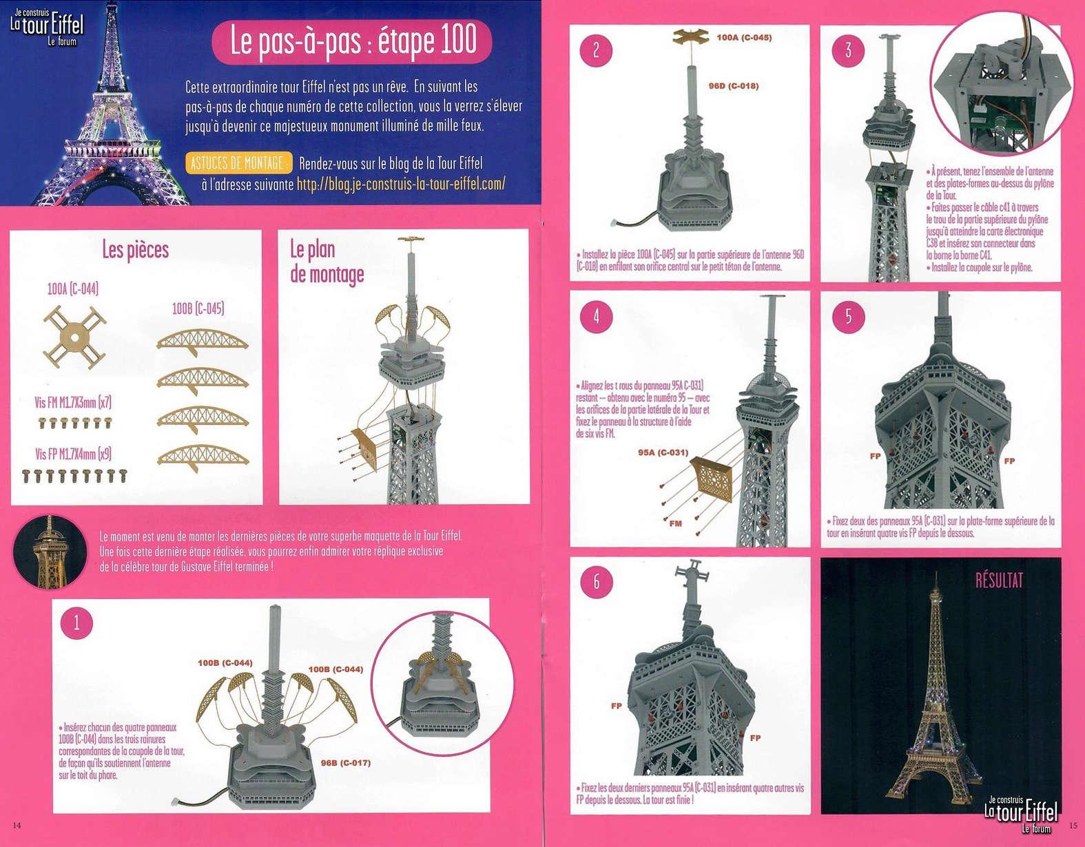 Numéro 100 - Je construis la Tour Eiffel - La tour Lotte World 10010