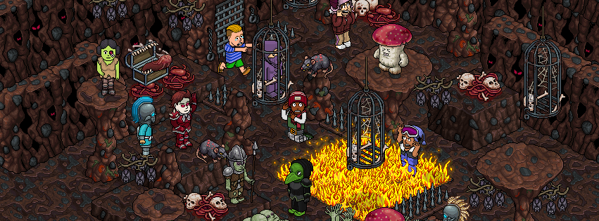 "habboween - [ALL] Immagini a tema ""Caverne Maledette"" Habboween 2017 22090010"