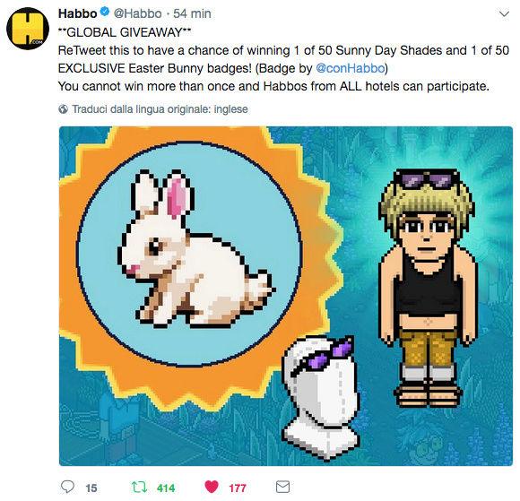 [ALL] Habbo Easter Garden Giveaway su Twitter Scherm21
