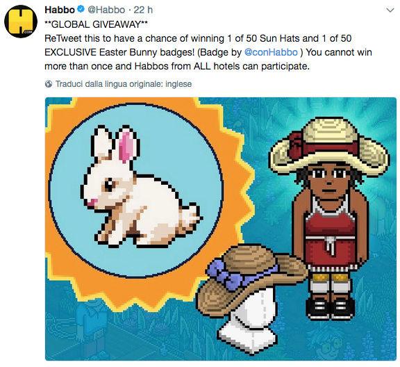 [ALL] Habbo Easter Garden Giveaway su Twitter Scherm23