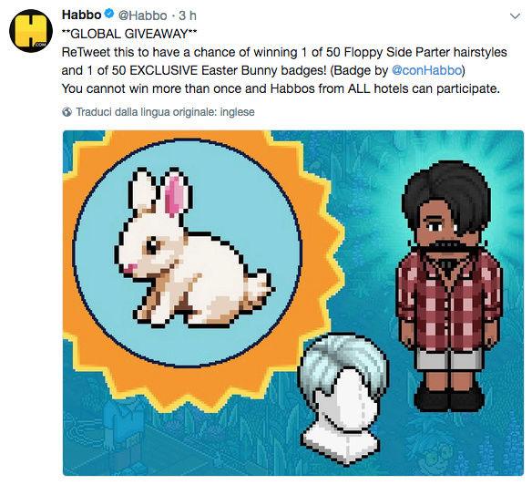 [ALL] Habbo Easter Garden Giveaway su Twitter Scherm25