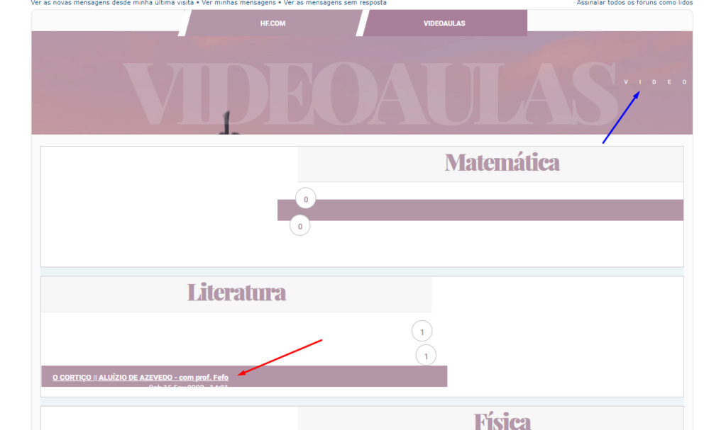 Categoria, fórum e sub-fórum personalizados Screen16