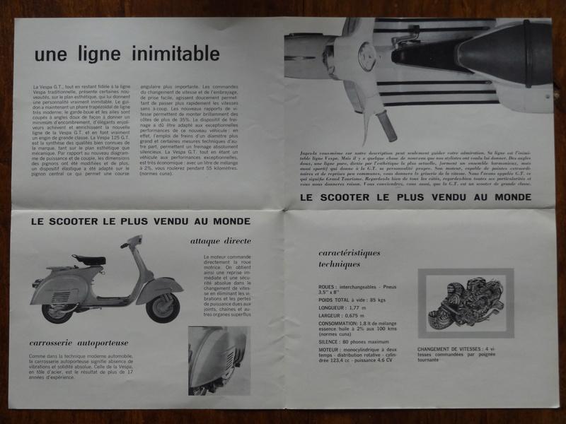 Dépliants publicitaires Vespa  Dsc06943