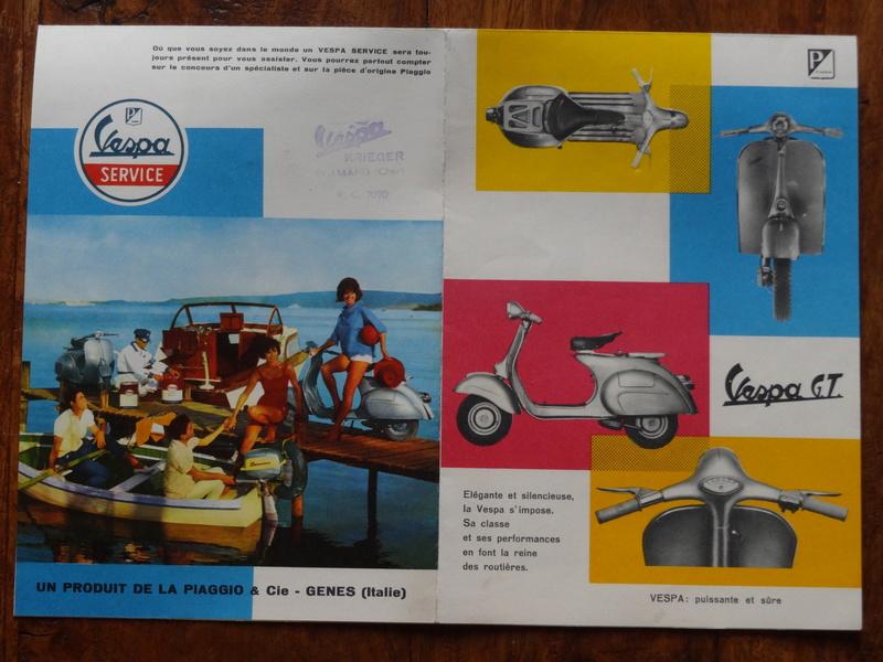 Dépliants publicitaires Vespa  Dsc06950