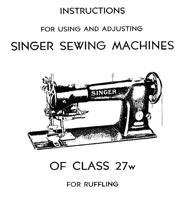 machine singer 27 ? 27w11