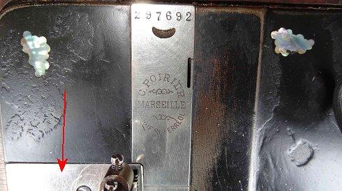 """identification machine a coudre """" l'avenir """" 441410"""