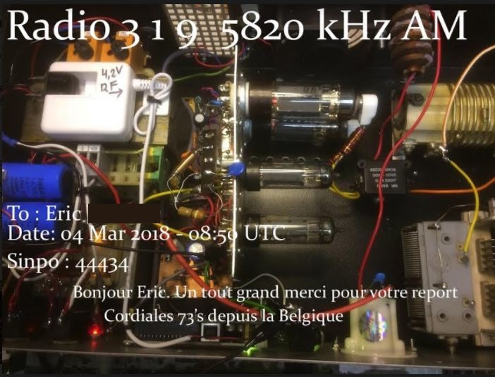 eQSL de radio 319 31910
