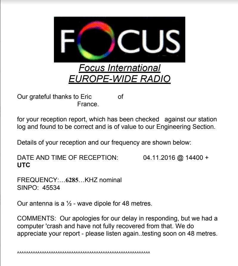 eQSL de FOCUS Focus210