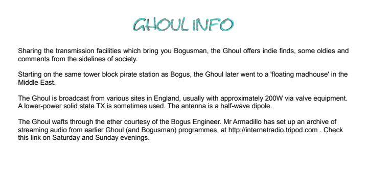 eQSL de Radio Ghoul Goul_110