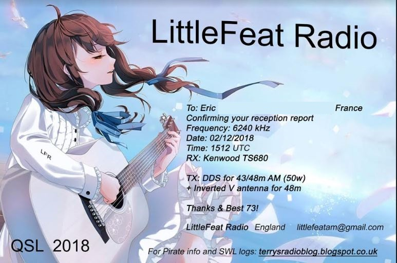 eQSL Little Feat Radio Lfr10