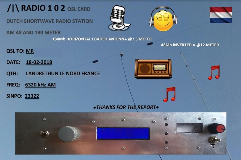 eQSL de radio 102 R10210