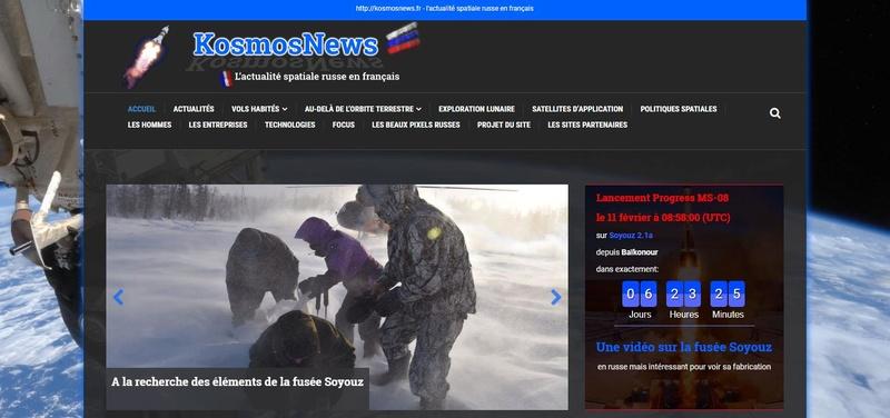 kosmosnews.fr, l'actualité spatiale russe en français. Scree199
