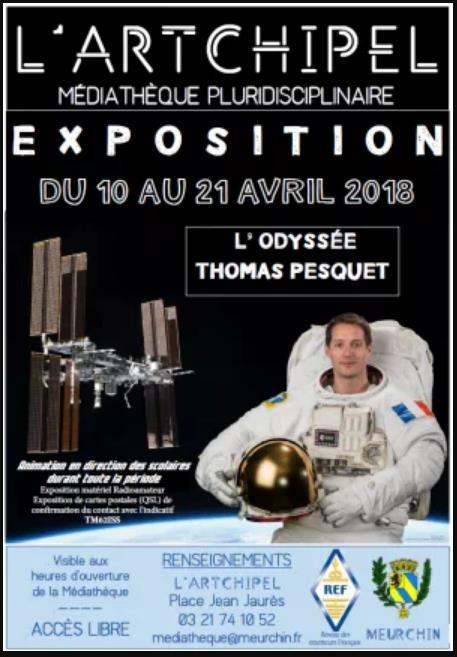 Exposition L'odyssée de Thomas PESQUET FX0ISS du 10 au 21/04/18  Scree296