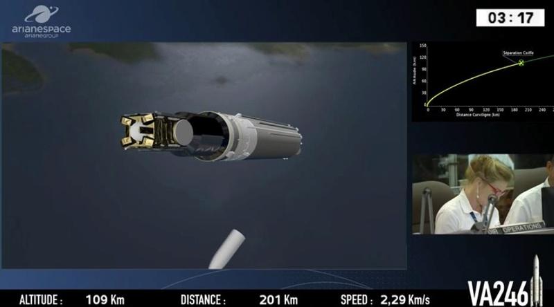 Ariane 5 ECA VA246 (GSAT-11 + GEO-KOMPSAT-2A) - 4.12.2018 Scree457