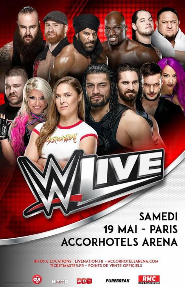 WWE Live Paris 2018 (Carte et résultats) 32921710