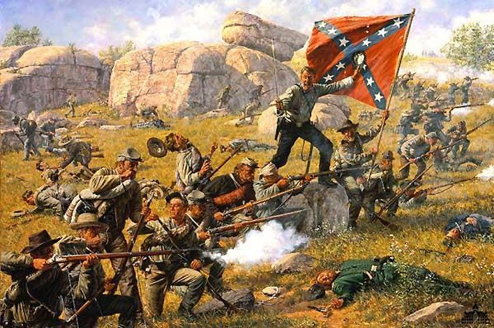 CR   LITTLE ROUND TOP  July the 2nd 1863 Hs-art10