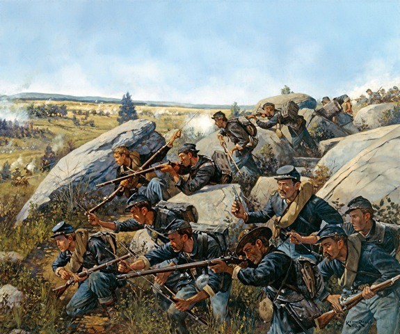 CR   LITTLE ROUND TOP  July the 2nd 1863 Round-11