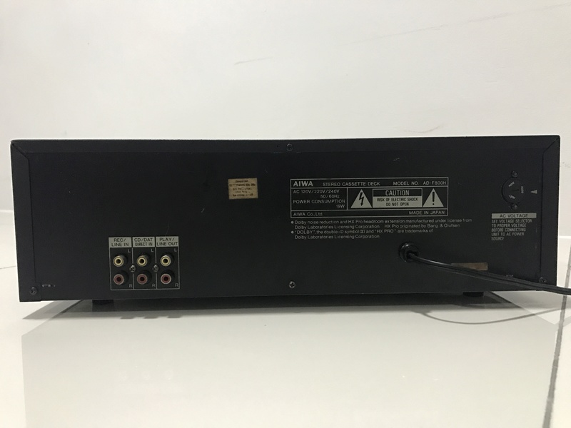 Sold - Aiwa Cassette Deck ADF800 3 head Img_0711