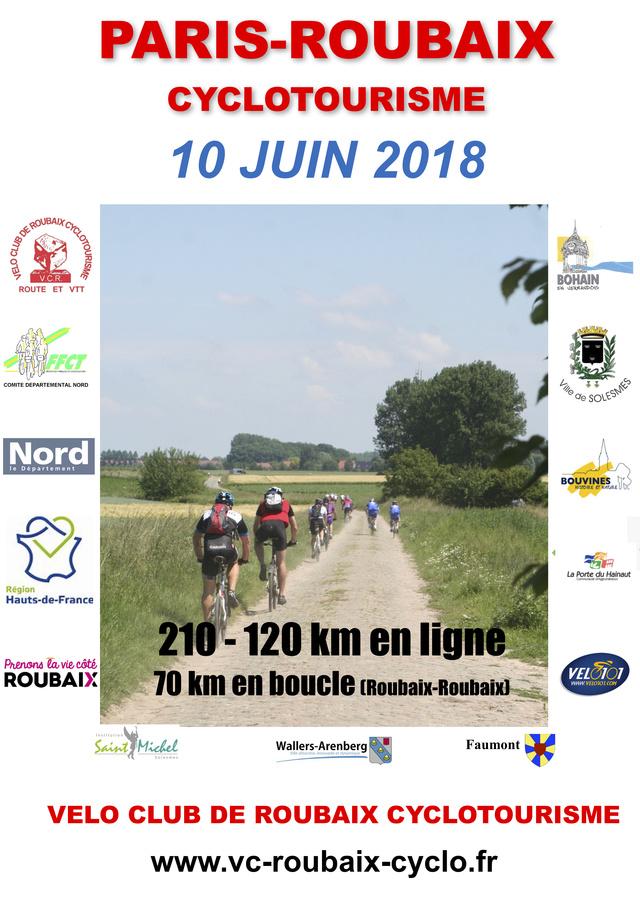 paris-roubaix cyclotourisme 10 juin 2018 Affich10