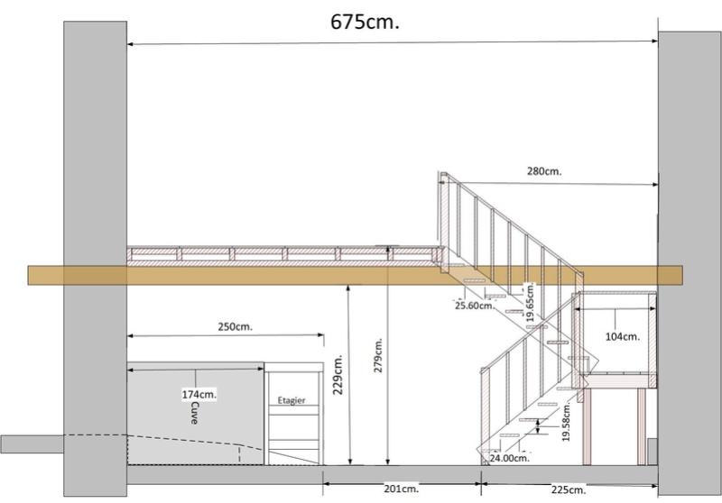 Escalier pour le garage et grenier Garage11
