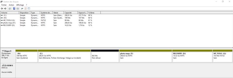 Comment supprimer une partition sous Windows 10 Format13
