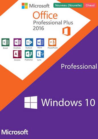Windows 10 Pro et Office 2016 Window11