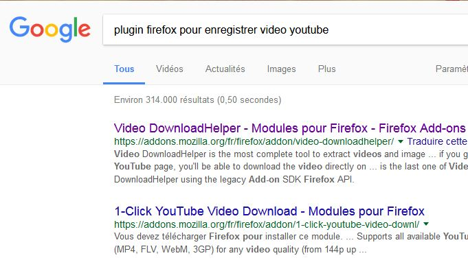 PLUGIN FIREFOX MOZILLA enregistrer directement videos youtube ou autres depuis votre navigateur Firfox Mozill10
