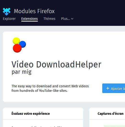 PLUGIN FIREFOX MOZILLA enregistrer directement videos youtube ou autres depuis votre navigateur Firfox Mozill11