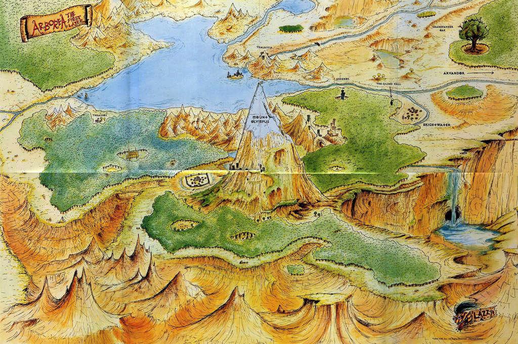 Carte de l'Arborée