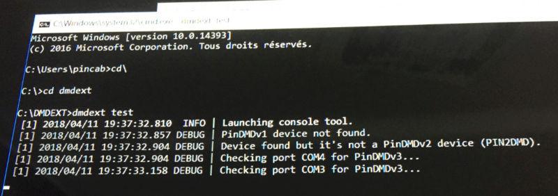 [RÉSOLU] Probleme PIN2DMD et DMDext Not_fo10