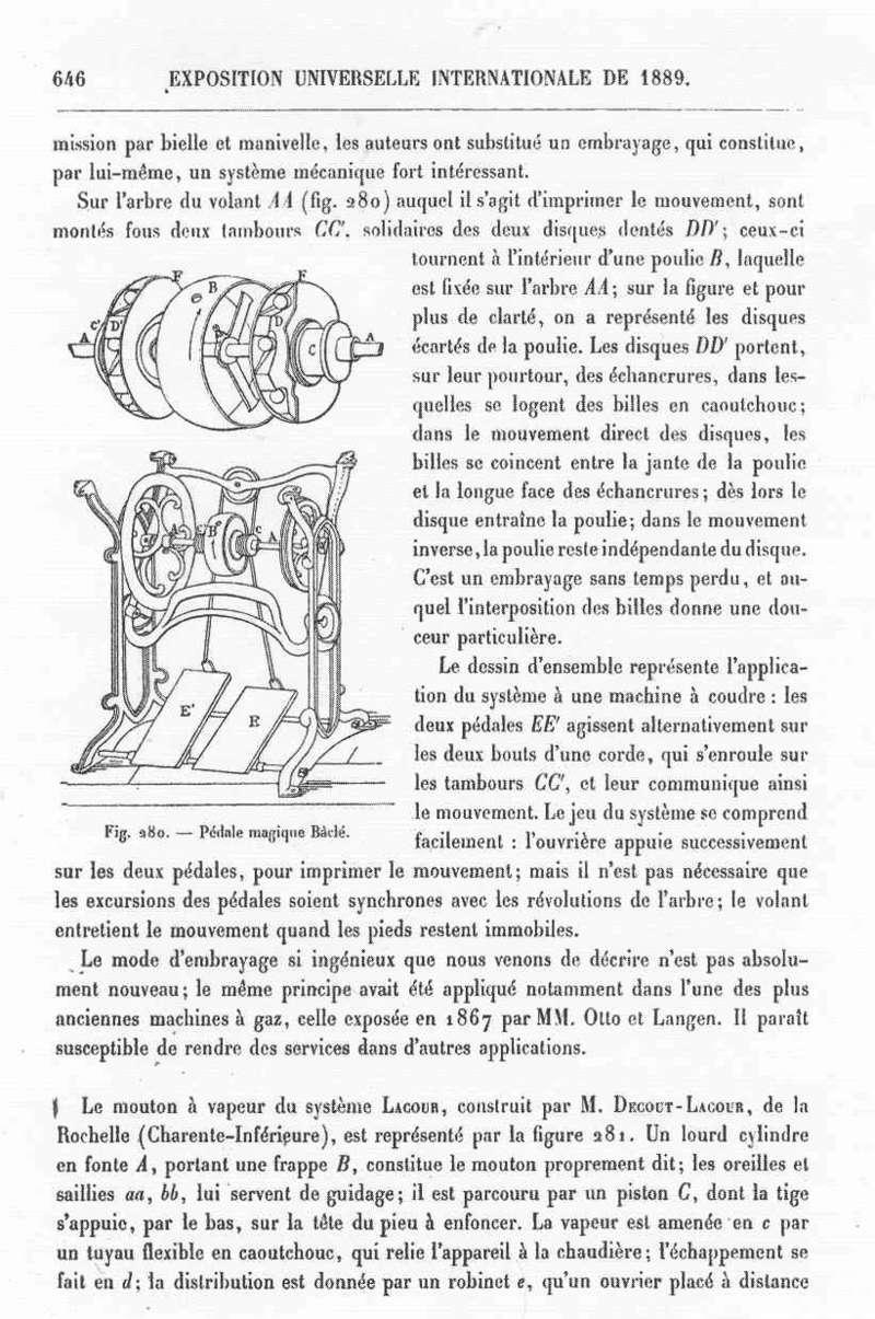 Désiré BACLE  son système d'entraînement à pédales Bacle_13