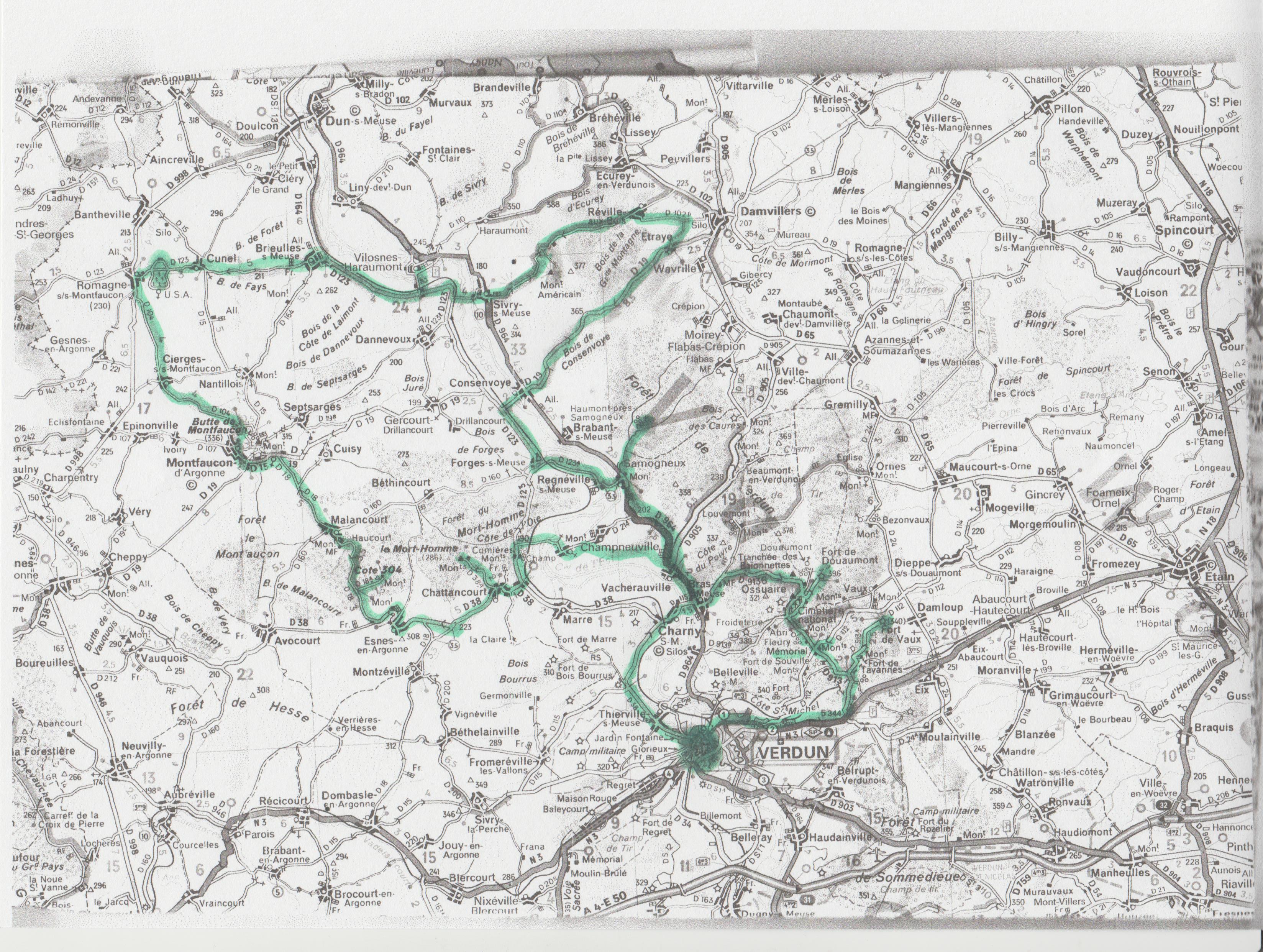 Balade Franco-Belge 2018 à Verdun Carte_14