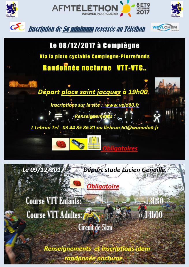 Téléthon Compiegne 8 & 9 Décembre  Affich10