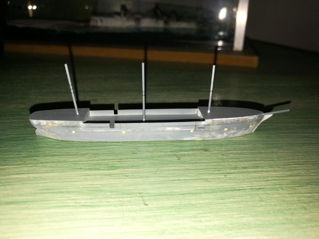 barges et petits bateaux de Brest 1/600 scratch Img_2046