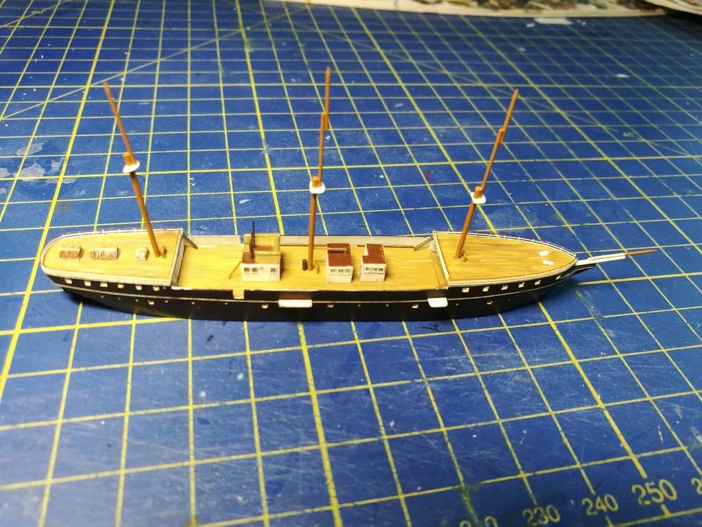 barges et petits bateaux de Brest 1/600 scratch Img_2049