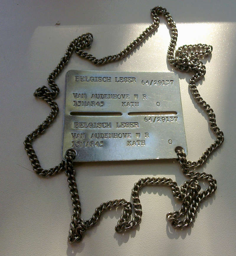 Belgian dog-tag of the year 1964 30042011