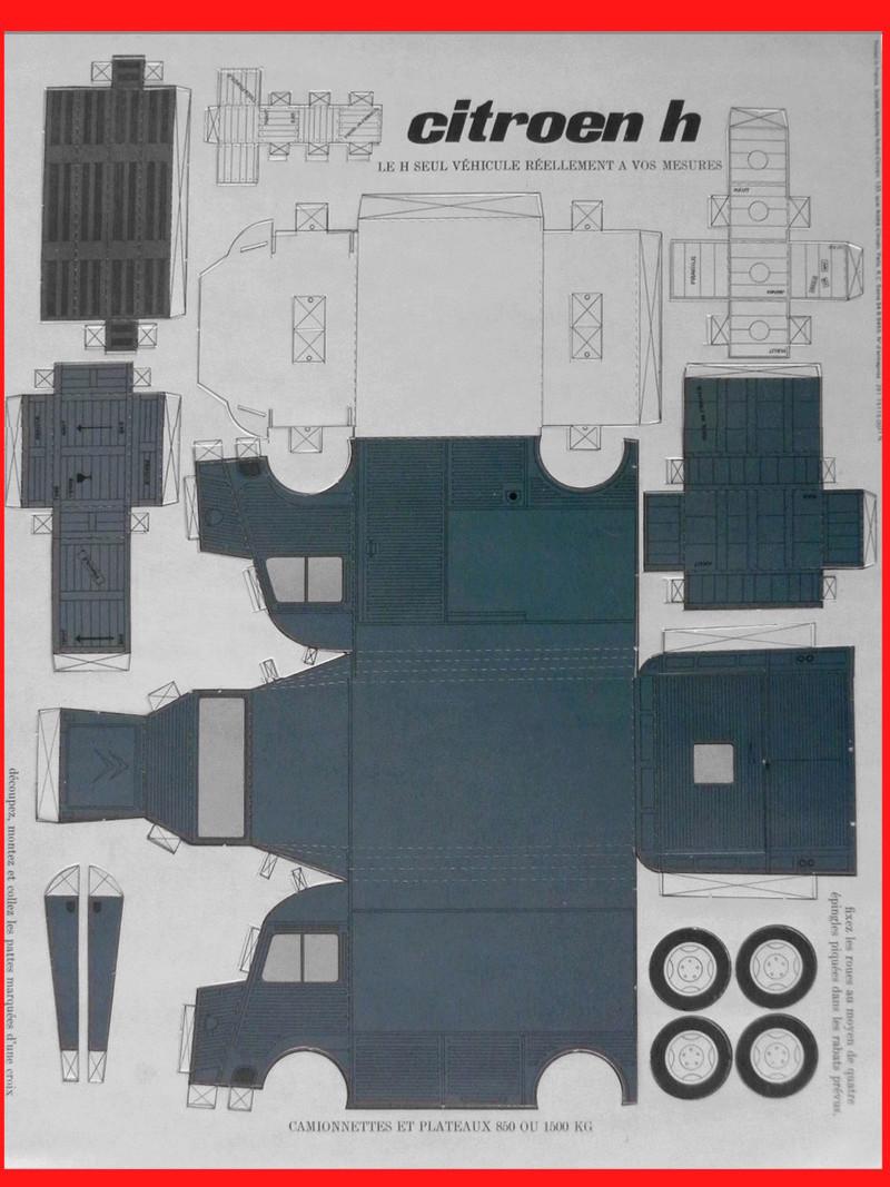 Citoën type H papper craft des années  60/70 H_citr10