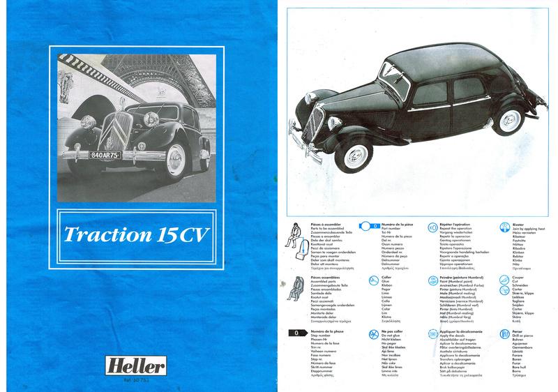 Citroën  traction 15 6 1/24  Heller  ref  60 763 Notice17