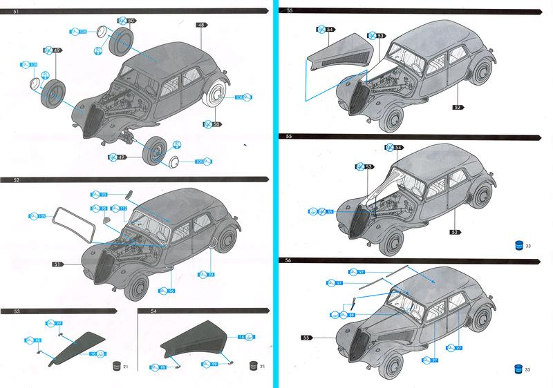 Citroën  traction 15 6 1/24  Heller  ref  60 763 Notice22