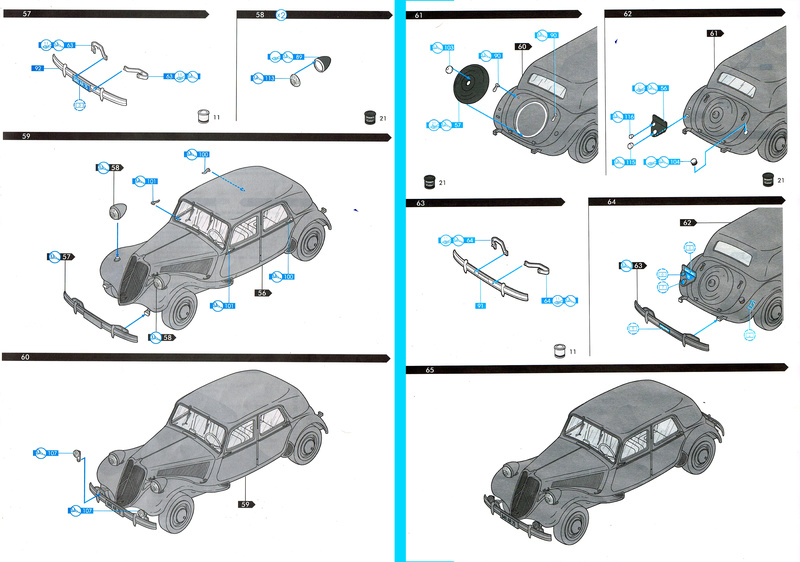 Citroën  traction 15 6 1/24  Heller  ref  60 763 Notice23